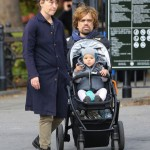 Peter Dinklage Strolls With Family
