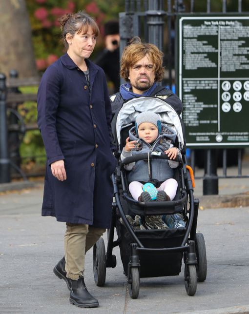 Peter Dinklage Strolls With Family Celeb Baby Laundry