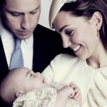 NEW Photo of Prince William, Kate Middleton and Prince George at Christening, Gorgeous