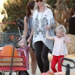 Rebecca Gayheart: Girls Day at the Pumpkin Patch