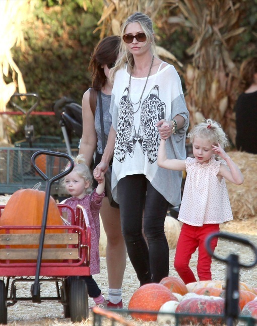Rebecca Gayheart & Family Visit Mr. Bones Pumpkin Patch