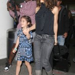 Salma Hayek: Airport Arrival With Valentina