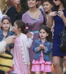 Salma Hayek Takes Her Daughter To Mr. Bones Pumpkin Patch