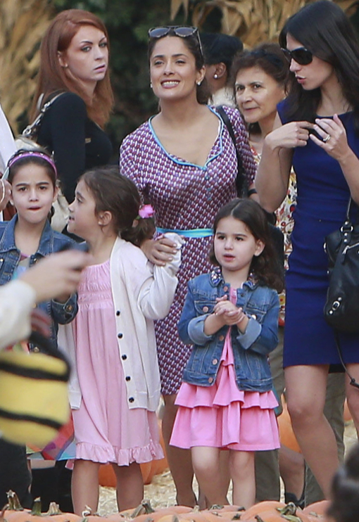 Salma Hayek Takes Valentina To The Pumpkin Patch
