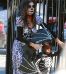 Sandra Bullock Shows Off Her Ghoulish Figure at Halloween Party with Louis