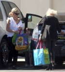 Exclusive... Sarah Michelle Gellar Shops For Groceries At Trader Joe's