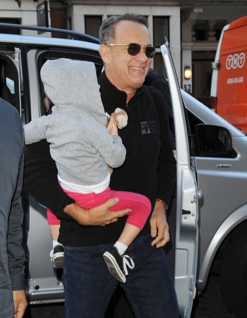 Tom Hanks Holds His Grandson Close Celeb Baby Laundry