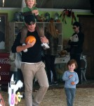 Will Arnett Takes His Sons To Visit Mr. Bones Pumpkin Patch