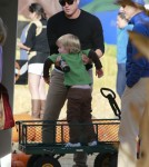 Will Arnett Takes His Sons Visit Mr. Bones Pumpkin Patch
