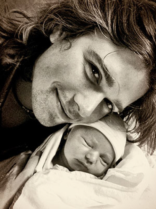 Zac Hanson and Newborn Son Abraha
