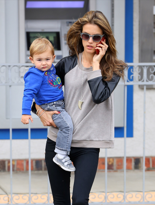 Alessandra Ambrosio Spends Time With Noah After Walking The Runway