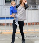 Alessandra Ambrosio Out And About With Her Son