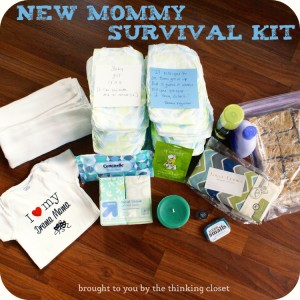 DIY Baby Shower Gifts - New Mommy Survival Kit