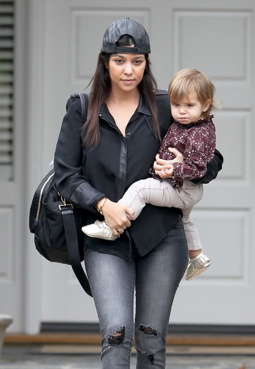 Kourtney Kardashian Takes Her Adorable Daughter Penelope To Class