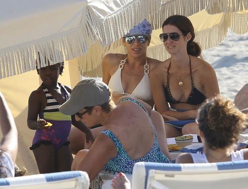 Jillian Michaels and Her Partner Heidi Rhoades Beach Day with Their Children