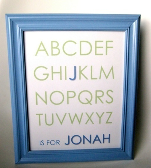 Baby Gift With Name : Diy baby shower gifts personalised name frame celeb