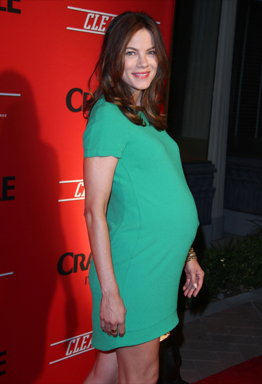 A Pregnant Michelle Monaghan at the Screening of Digital Series CLEANERS