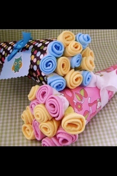 Diy Baby Shower Gifts Baby Washcloth Bouquets Celeb