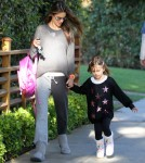 Alessandra Ambrosio Takes Anja To School