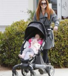 Alyson Hannigan Takes Keeva For A Walk