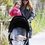 Alyson Hannigan Takes a Morning Stroll With Keeva