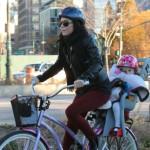 Bethenny Frankel: Fall Bike Ride With Bryn