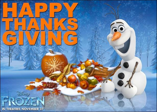 Happy Thanksgiving From Frozen