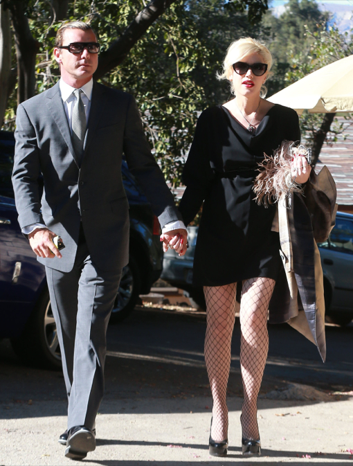 Gwen Stefaniy & Gavin Rossdale Attend A Wedding