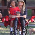 Heidi Klum Enjoys a Soccer Day With Her Kids