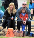 Heidi Klum & Martin Kristen Watching Her Kids Play Flag Football