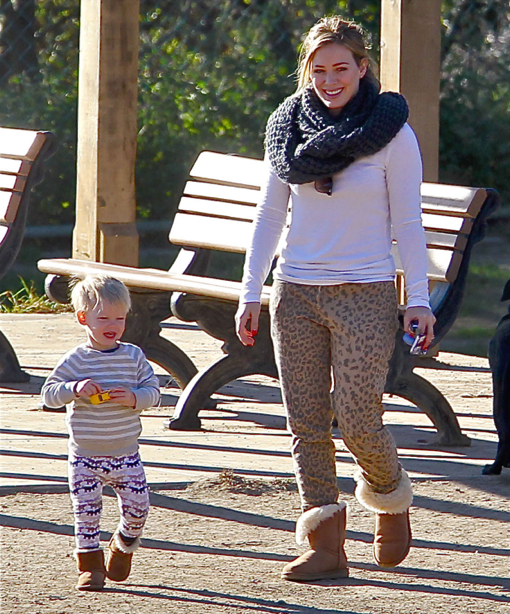 Hilary Duff Takes Luca To The Dog Park