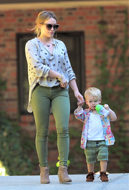 Hilary Duff Takes Luca To His Baby Class