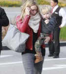 Hilary Duff Goes Shopping With Her Family