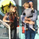 Hilary Duff & Mike Comrie Take Luca to a Baby Fit Class