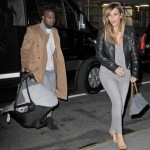 Kim Kardashian & Kanye West: Family Dinner With North