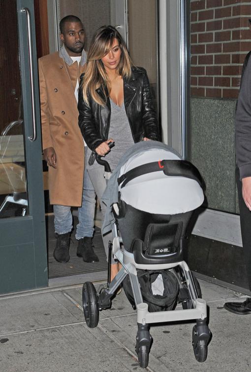 Kim Kardashian & Kanye West: Family Dinner With North