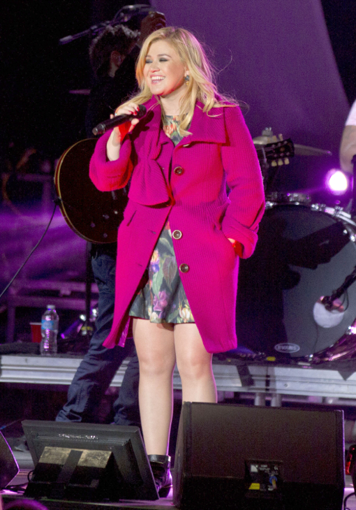 Kelly Clarkson Performs Private Concert At Swangard Staduim