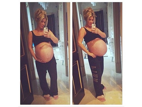 Kim Zolciak Uploads A Selfie of Herself Nine Months Pregnant