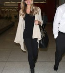 Pregnant Kristin Cavallari Arriving On A Flight At LAX