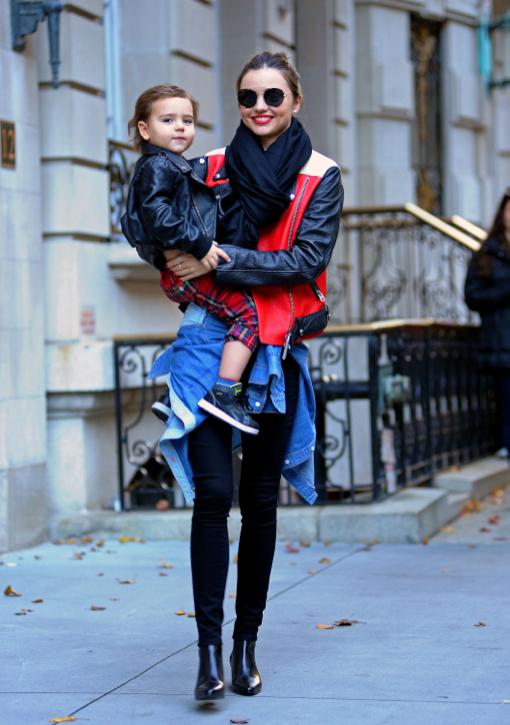 Miranda Kerr Leaving Her Nyc Apartment With Flynn