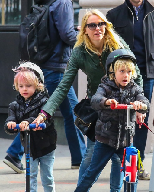 Naomi Watts Has Her Hands Full With Her Boys