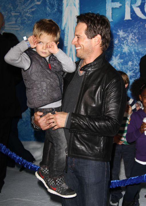 Scott Wolf Takes His Son Jackson to Disney's Frozen Premiere
