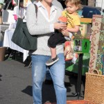 Selma Blair Enjoys a Fun Day With Arthur at the Farmers Market