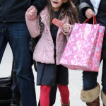 Suri Cruise Shops and Enjoys a Sweet Treat While Out With Her Nanny