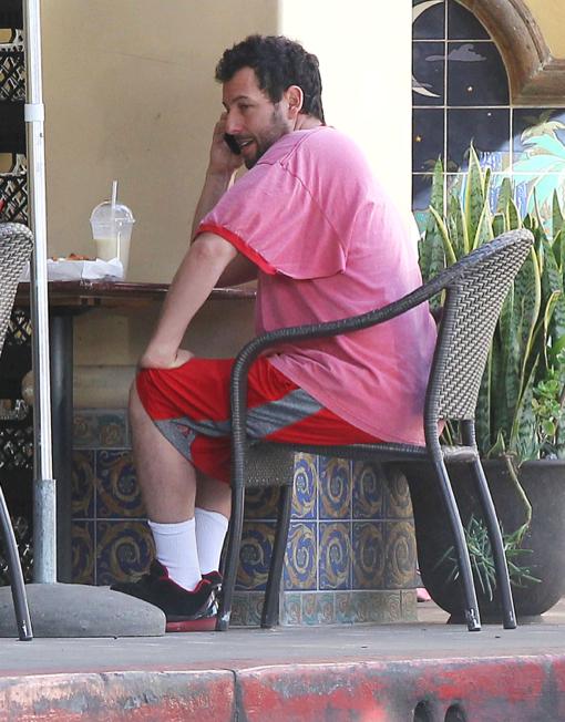 Adam Sandler Catches Breakfast With Sunny