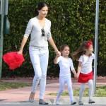 Adriana Lima Attends Sienna & Valentina's School Christmas Play