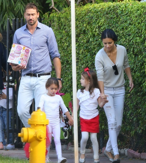 Exclusive... Adriana Lima & Marko Jaric Attend Their Daughter's Christmas Play
