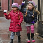 Marion & Tabitha Broderick Enjoy The Fresh Snowfall In the Big Apple