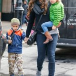 Camila Alves And McConaughey Kids In NYC