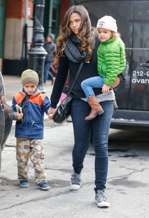 Camila Alves & Kids Leaving Their Hotel In New York